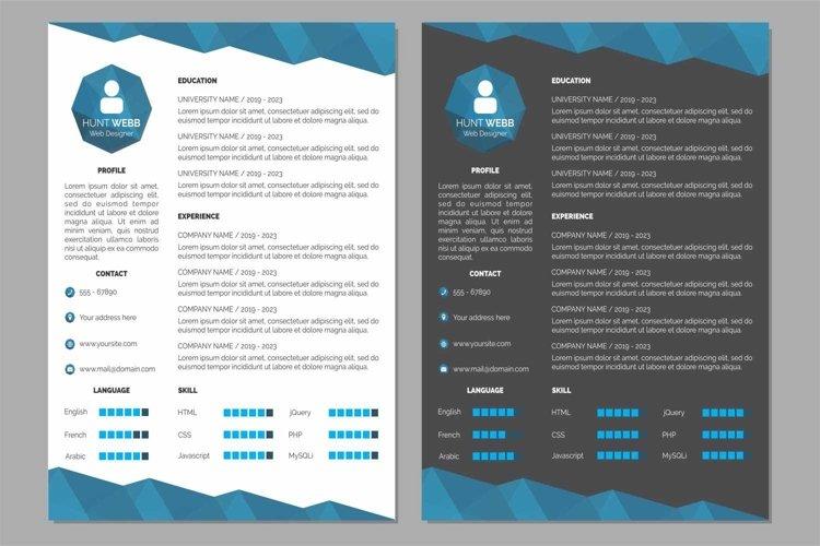 Curriculum Vitae Resume Clean and Dark Blue Color