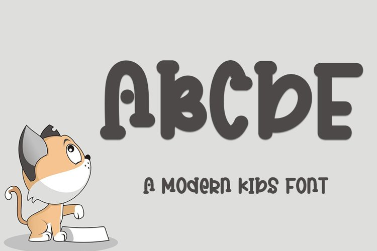 ABCDE - A Modern Kids Font example image 1