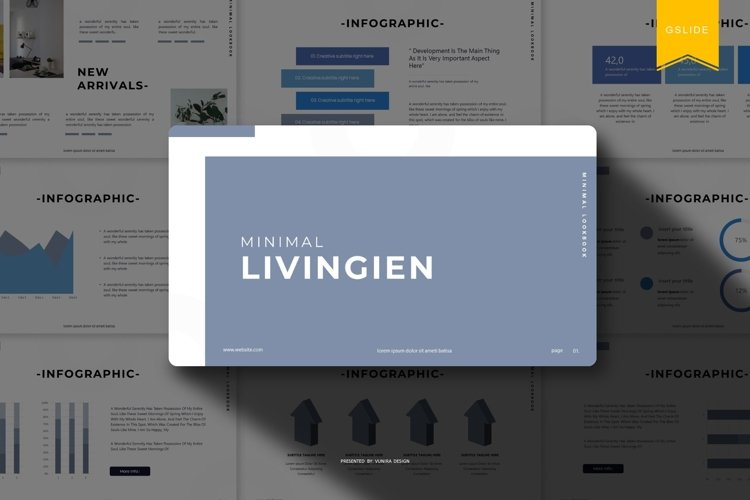 Livingien | Powerpoint, Keynote, GoogleSlides Template example image 1