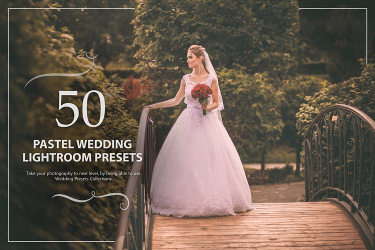 50 Pastel Wedding Lightroom Presets example image 1
