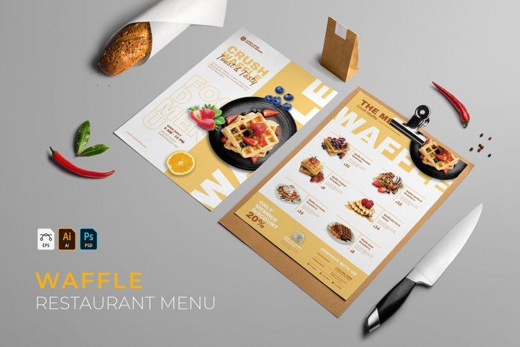 Waffle | Restaurant Menu example image 1