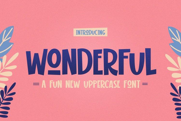 Wonderful Display Font example image 1