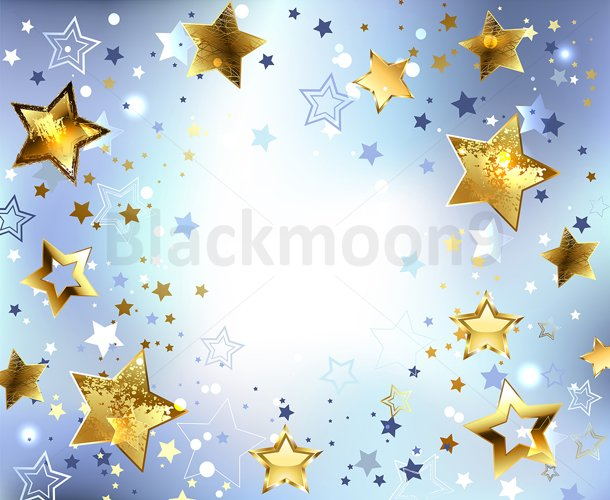 Blue Background with Gold Stars example image 1
