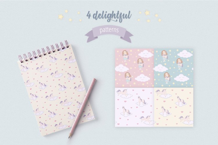 Cute Funny Unicorn Illustration Set - Free Design of The Week Design5