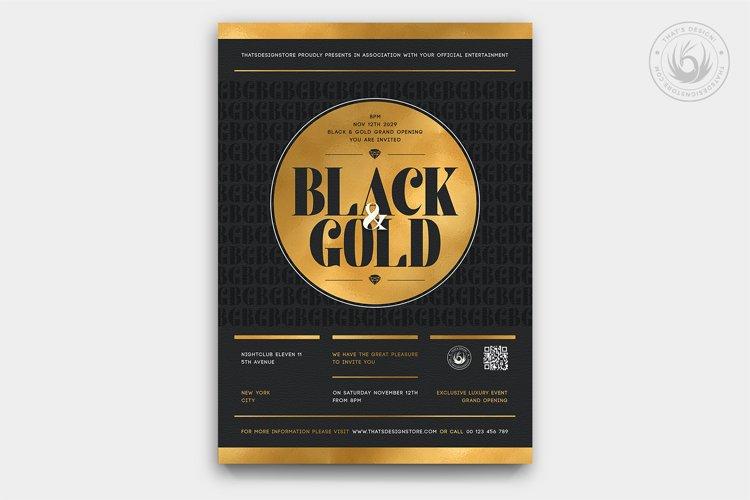 Black and Gold Flyer Template V23