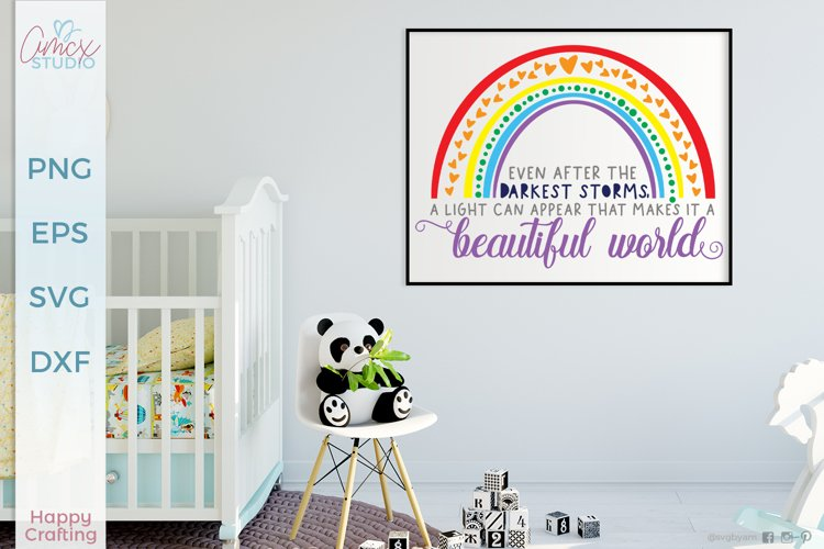 Beautiful World - Rainbow Baby SVG