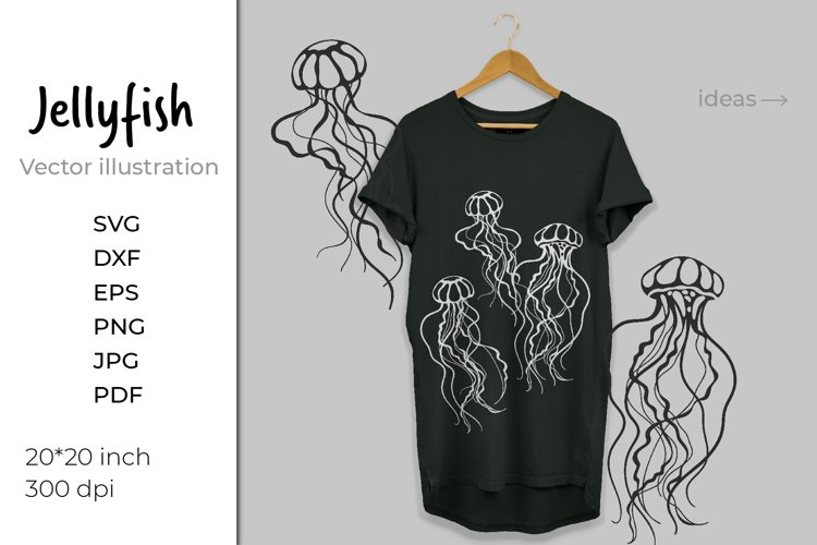 Jellyfish SVG. Jelly fish. Ocean svg. Under the sea example image 1