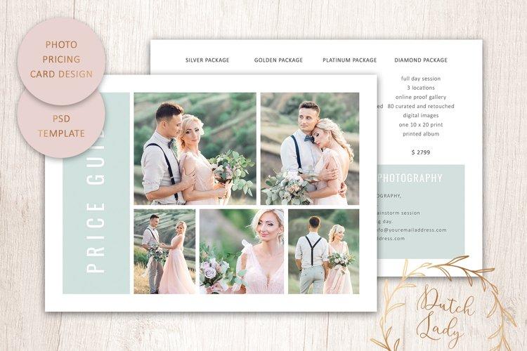 PSD Photo Price Card Template - Design #23 example image 1