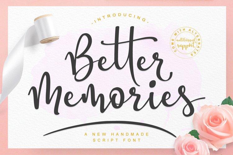 Better Memories Font example image 1