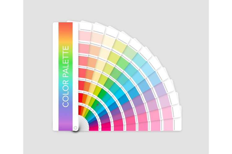 Color palette guide on grey background example image 1