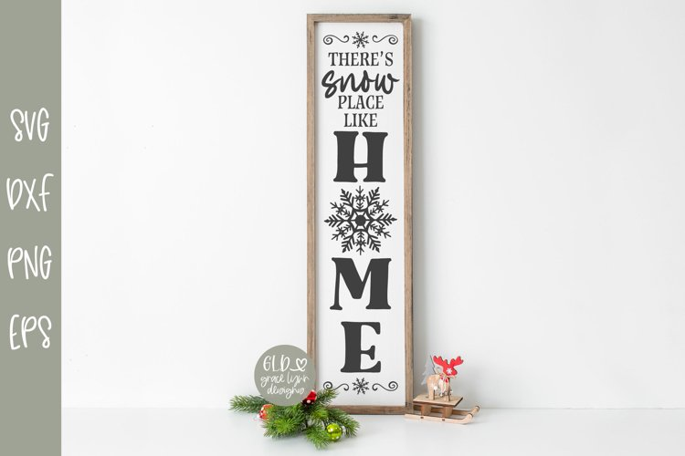 There's Snow Place Like Home - Vertical Christmas SVG example image 1