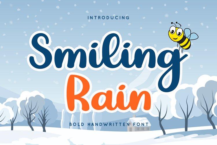 Smiling Rain - Sweet Bold Script