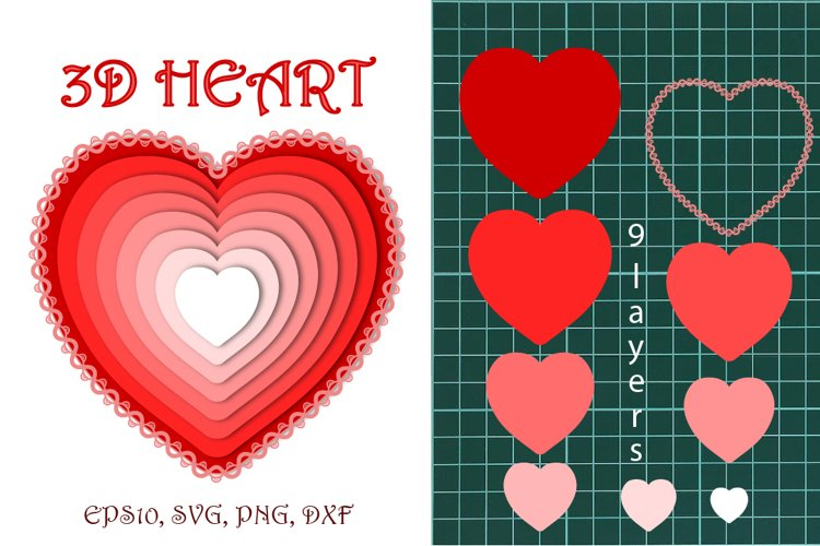 3D heart. example image 1