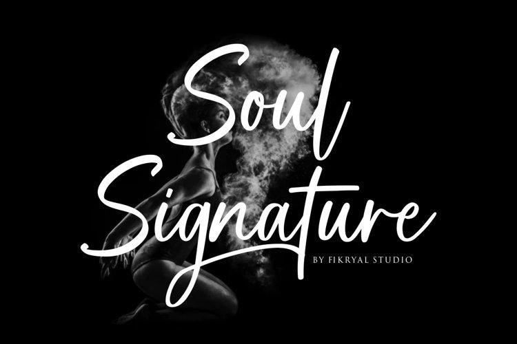 Soul Signature - signature font example image 1