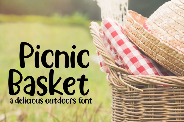 Picnic Basket - A Delicious Outdoors Font example image 1
