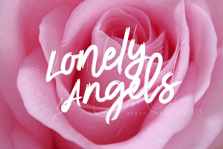 Lonely Angels Brush Font