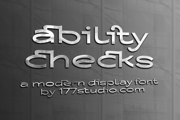 Ability Checks Font example image 1