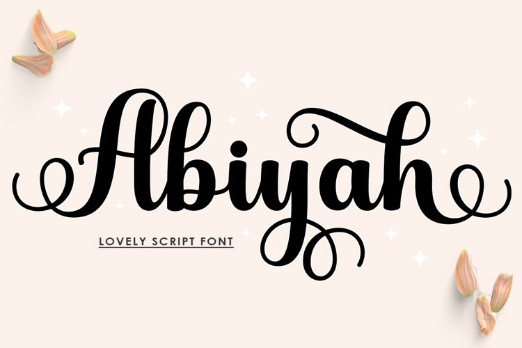 Abiyah Script example image 1
