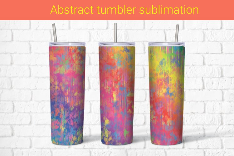 Abstract multicolored sublimation tumbler