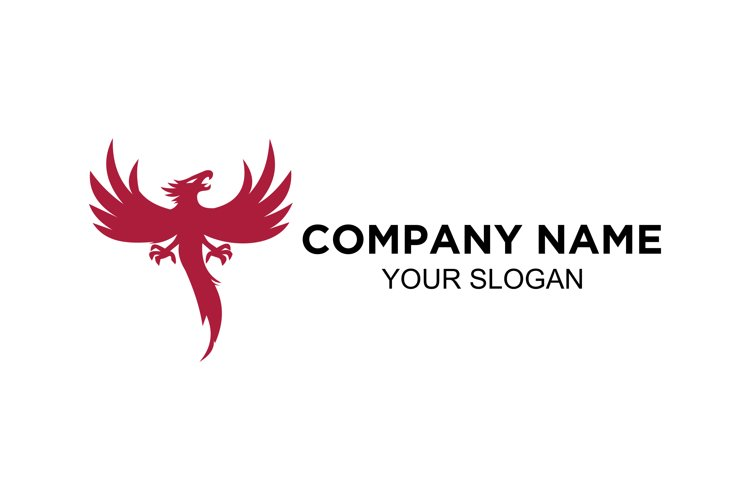 abstract of phoenix logo design vector