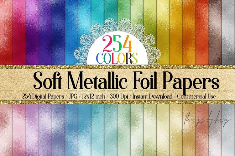254 Soft Color Metallic Foil Texture Printable Digital Paper