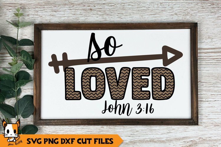 Religious SVG   So Loved example image 1