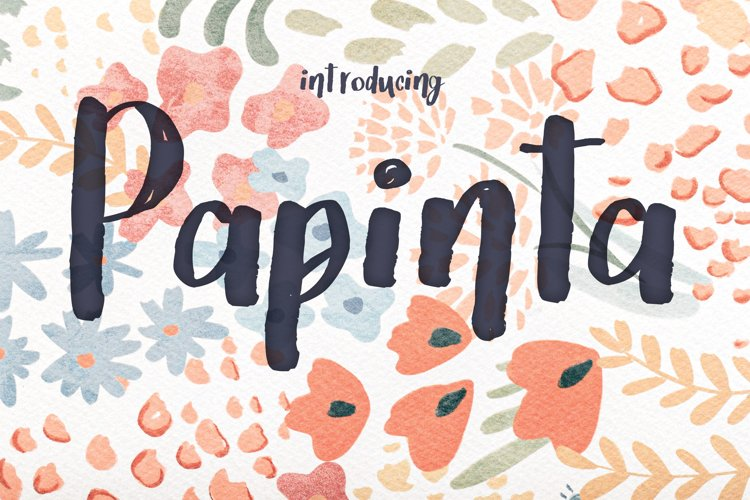 Papinta font example image 1