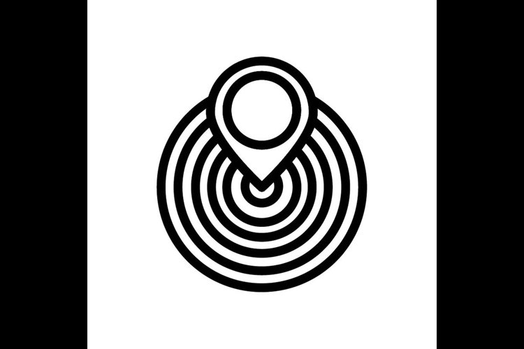 target board, pin map symbol line icon, Vector Illustration example image 1