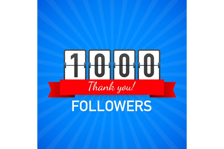 Thank you 1000 followers numbers. Congratulating