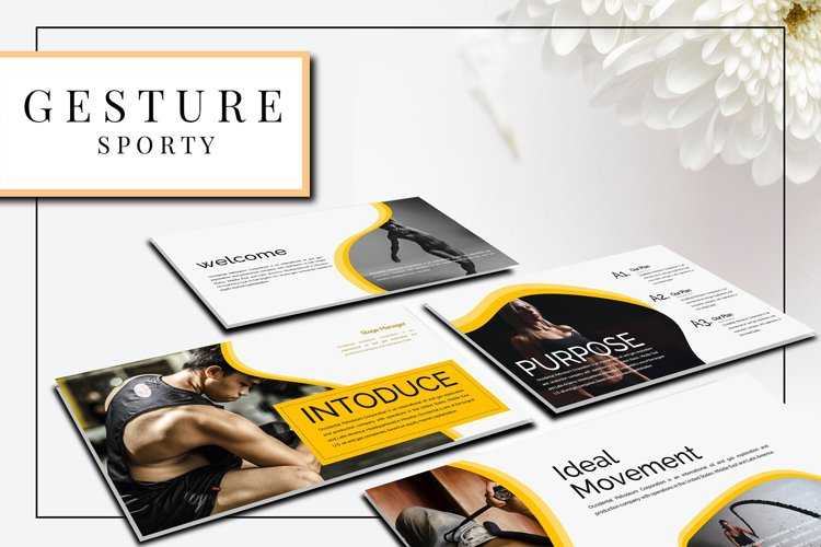 Gesture Athletics Powerpoint Template example image 1