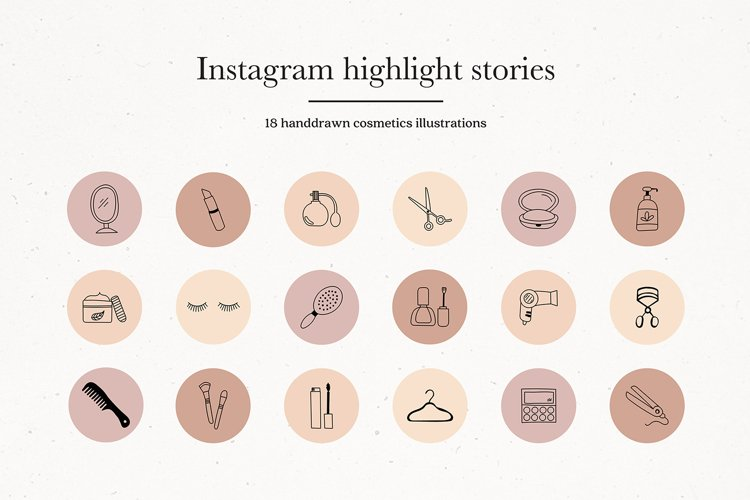 Instagram Cosmetics Story Highlights Icons Covers example image 1