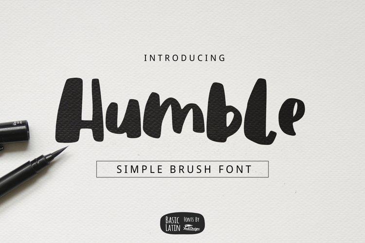 Humble Brush Font example image 1