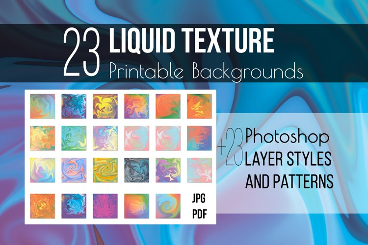 Liquid texture & Photoshop Layer Styles example image 1