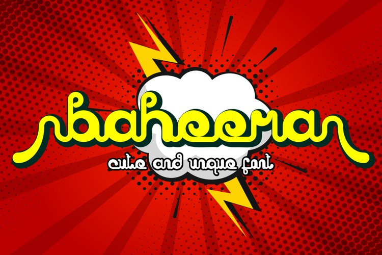 baheera unique font example image 1