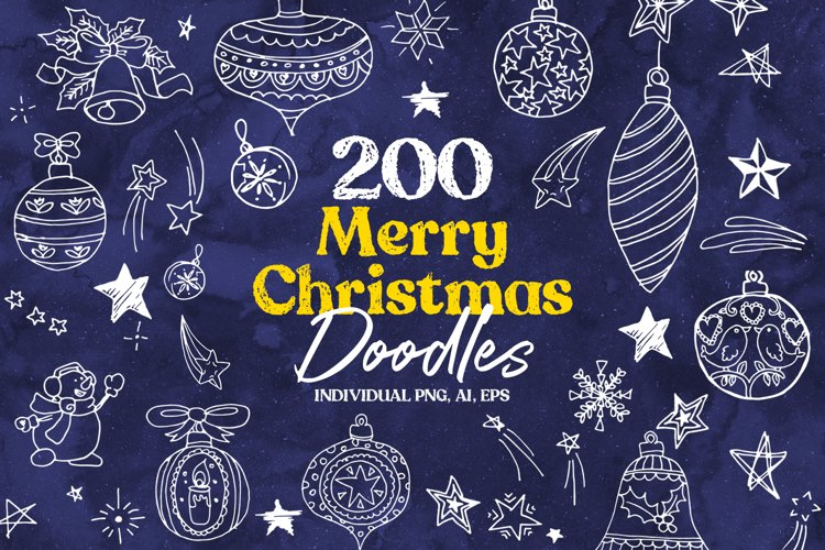 Merry Christmas Doodles example image 1