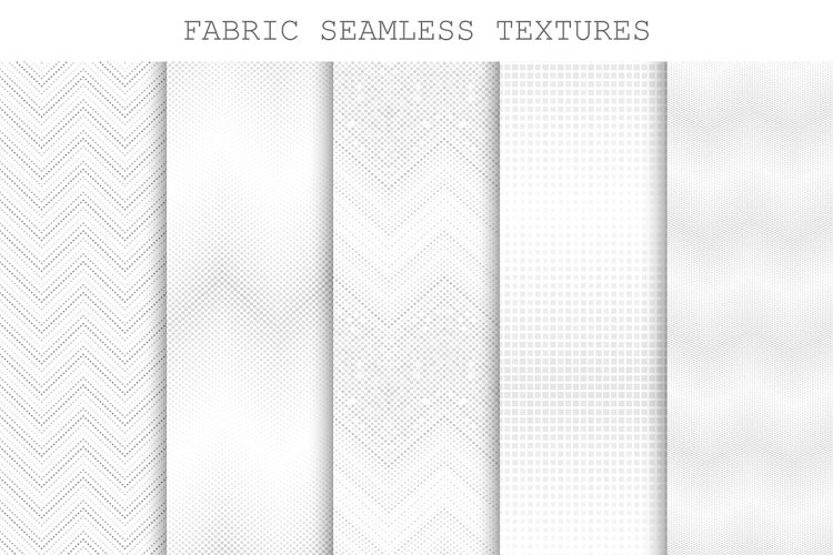 Seamless decorative fabric textures. example image 1