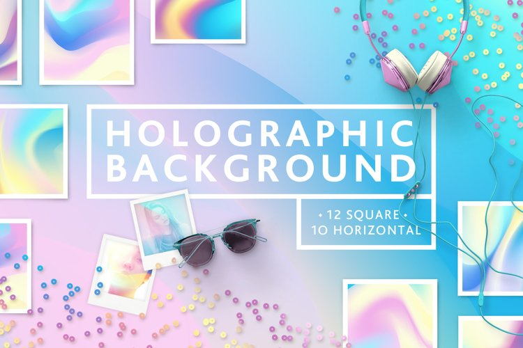 Set Holographic background textures
