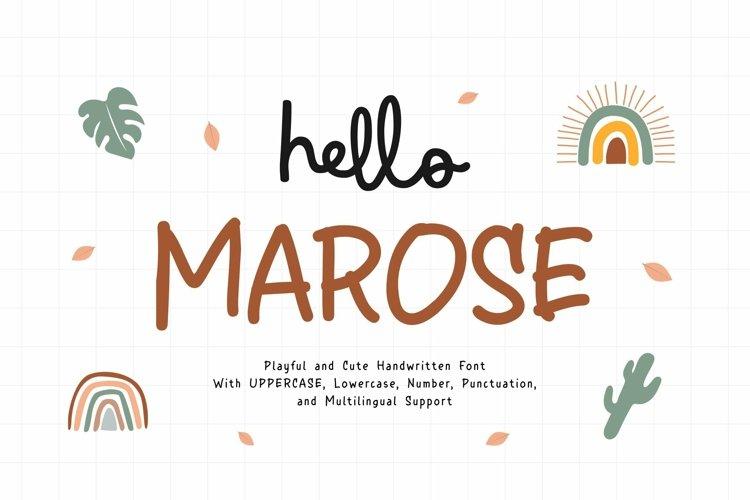 Web Font Marose example image 1
