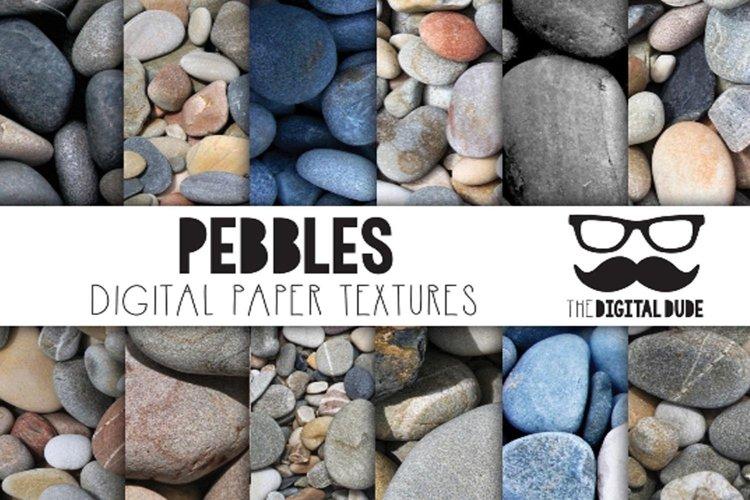 Pebbles - Digital Paper Set of 12 Images