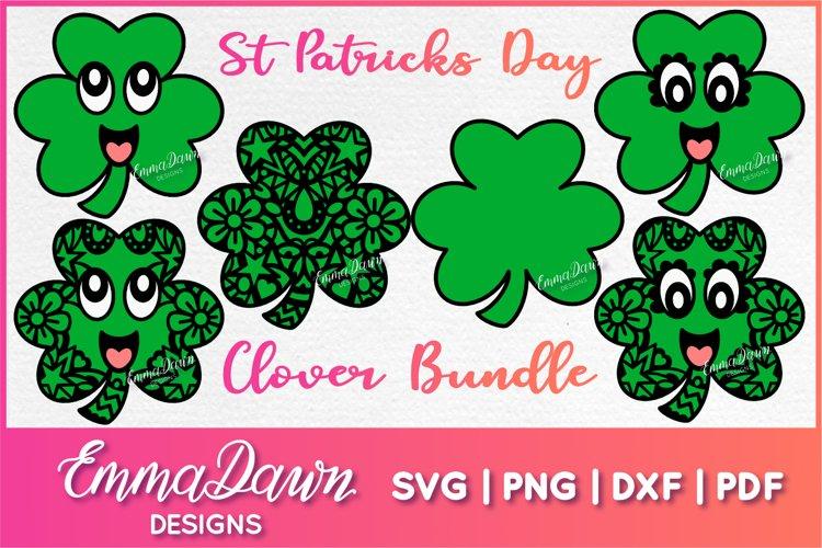 St PATRICK'S DAY CLOVER SVG BUNDLE 6 DESIGNS example image 1