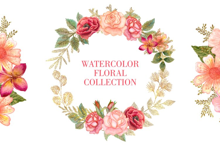 Watercolor floral collection example image 1
