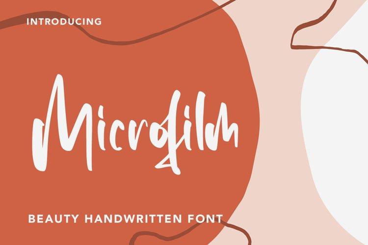 Microfilm - Beauty Handwritten Font example image 1