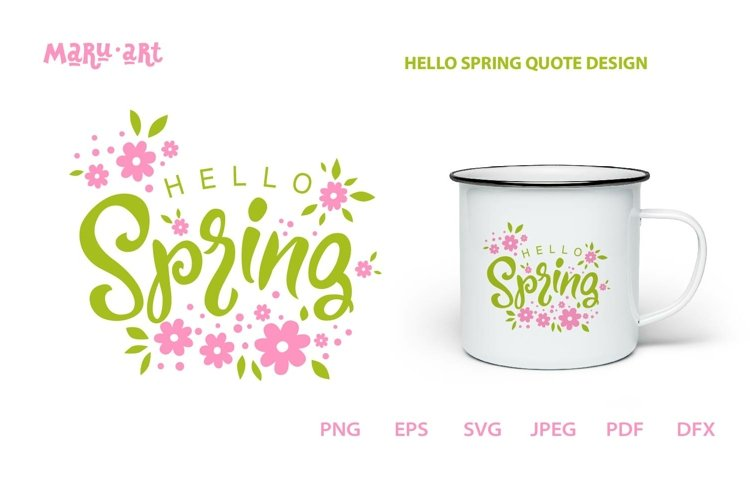 Hello Spring SVG Files, Sign SVG