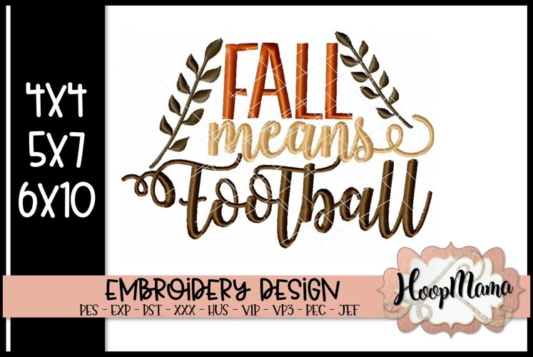 Fall Means Football - Thanksgiving Embroi example image 1