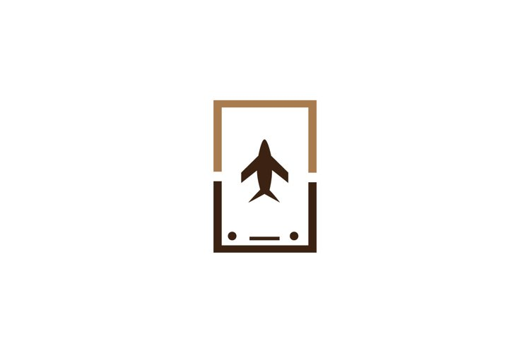 plane mobile app logo vector illustration example image 1