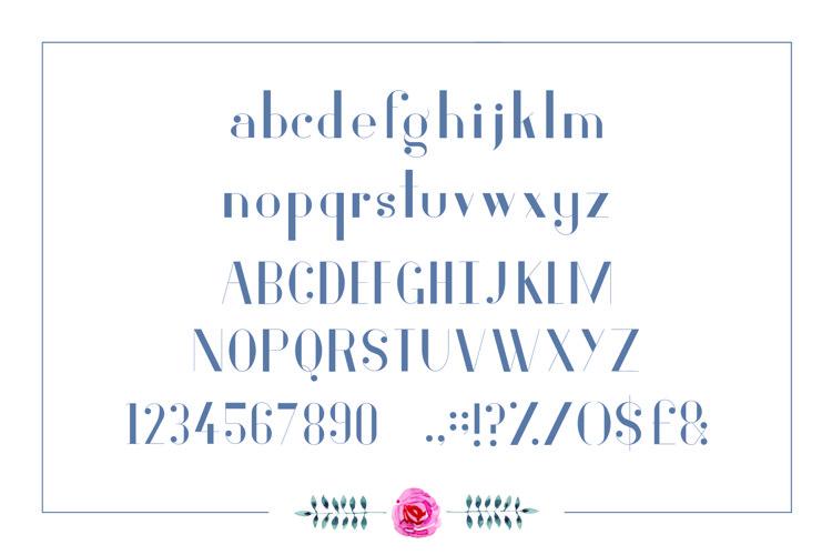 Fiore Typeface example 1