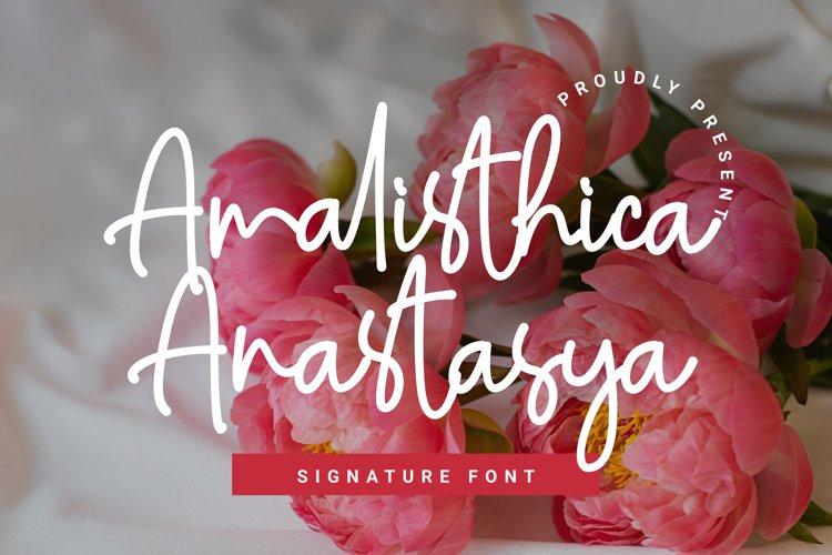 Amalisthica Anastasya Signature Font Script example image 1