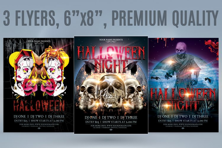 Halloween Flyer Bundle example image 1