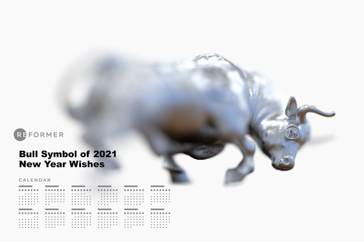 Bull Symbol of 2021 New Year Wishes example image 1