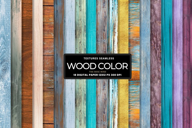 Color Wood seamless digital paper, rustic wood